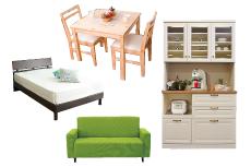 ソファ、ベッド、タンス、棚、ダイニングテーブル