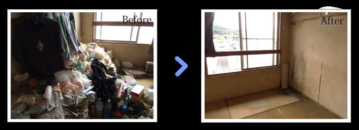 ゴミ屋敷片付け事例部屋