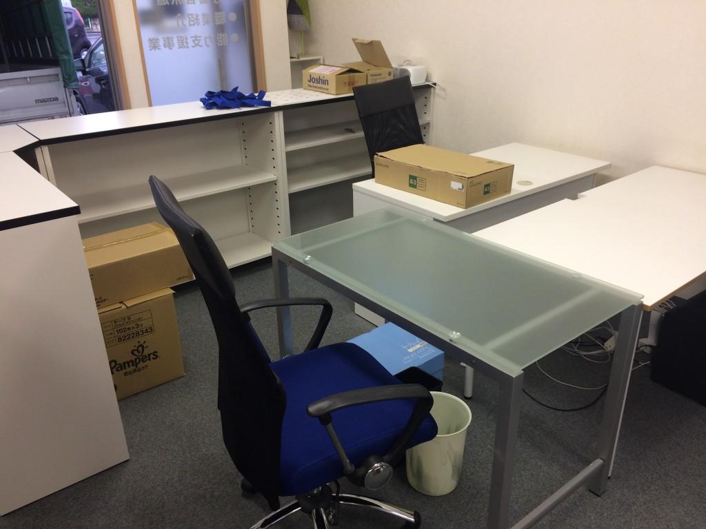 事務所移転、事務用機器回収、事務机回収、事務所の片付け
