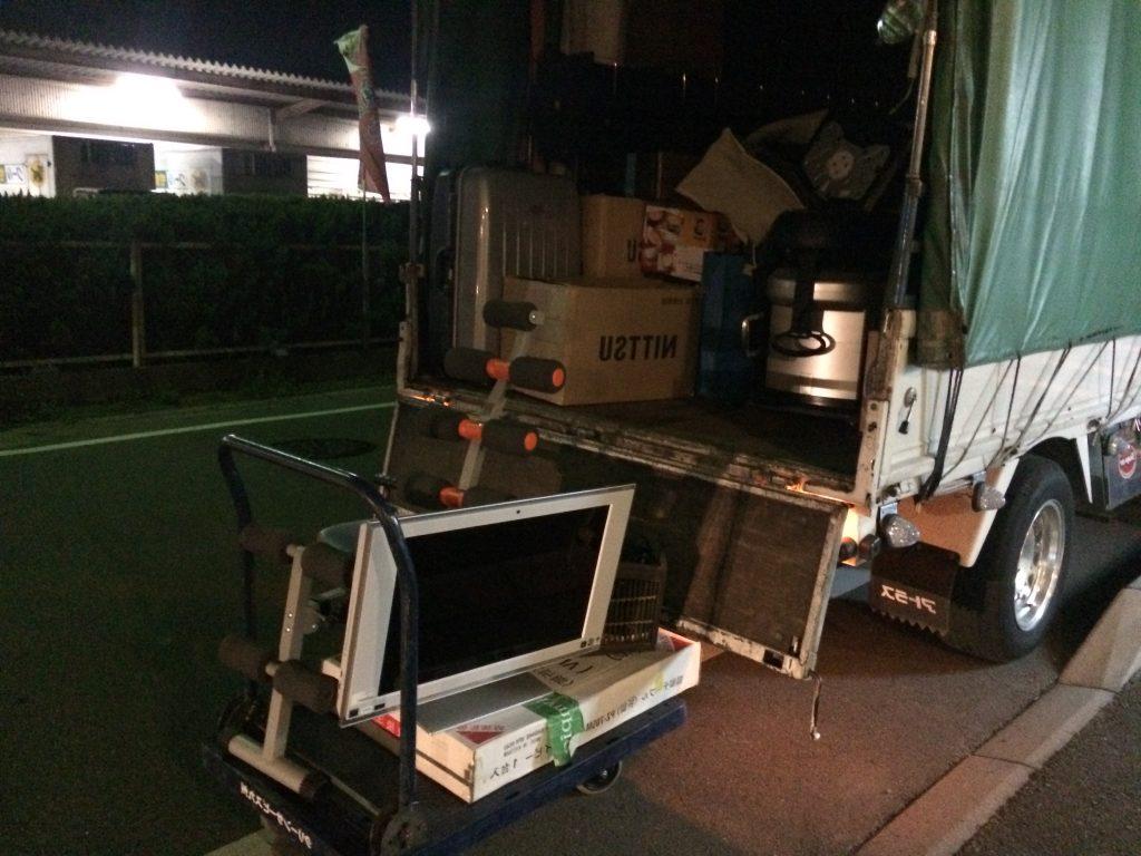 不用品夜回収、夜間回収、粗大ゴミ回収、家電回収福岡