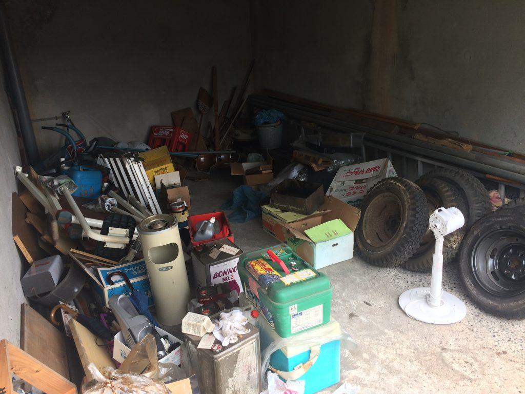 車庫の片付け、不用品回収、実家片付け、空家片付け、ごみ屋敷、ゴミ屋敷、バイク処分、LINE査定、バイク引取り