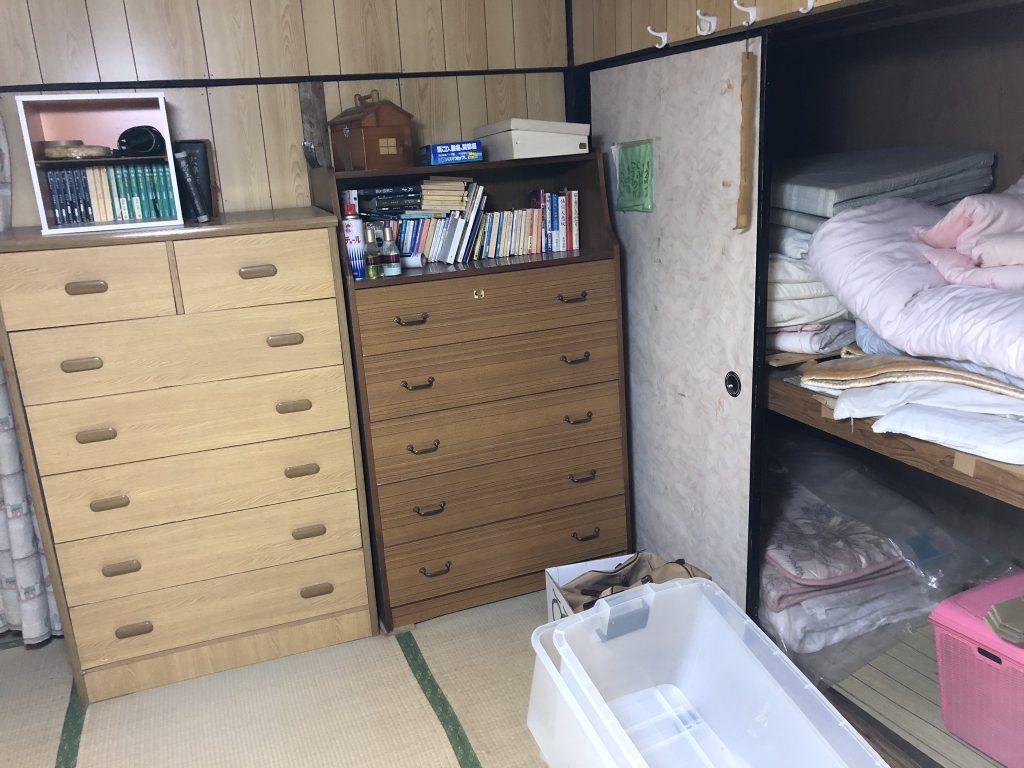 福岡県実家片付け、引越しゴミ回収、福岡遺品整理、粗大ゴミ回収、タンス回収、ベッド回収