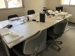 福岡事務所片付け、福岡事務所移転、大分事務机回収、熊本事務机回収、福岡不用品回収、大分不用品回収、熊本不用品回収