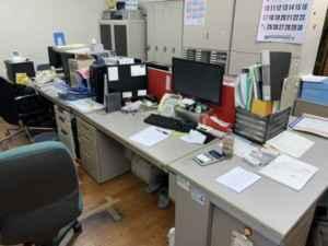 事務所片付け、ディスク回収、チェアー回収、ロッカー引取り、パーテーション回収、引越しゴミ回収、福岡ゴミ回収